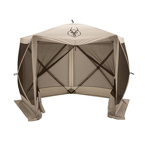 Gazelle 5-Sided Pop-up Portable Gazebo Screen Tent, 4 Person 115