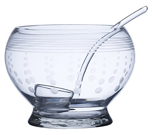 Mikasa Cheers Punch Bowl Pitcher with Ladle, 180-Ounce - Milk Glass Punch Bowl