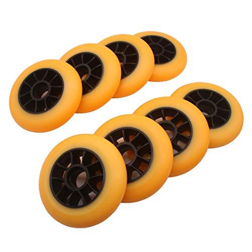 Paquete de 8 ruedas para patines de 110 mm 85a negras