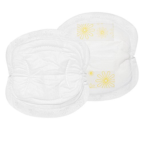 Medela Nursing Pads, Pack of 120 Disposable Breast Pads, Excellent Absorbency, Leak Protection,  Double Adhesive Keeps Pads in Place ()