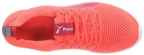 Puma Ignite Proknit Wn's - Zapatillas de running Mujer Naranja - Orange (fluo peach-white-white 05)