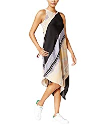 Rachel Rachel Roy Womens Asymmetric Printed Cocktail Dress Multi M