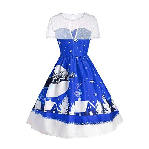 Damen Weihnachten Kleid Bovake Frauen Vintage Weihnachten Oansatz ...