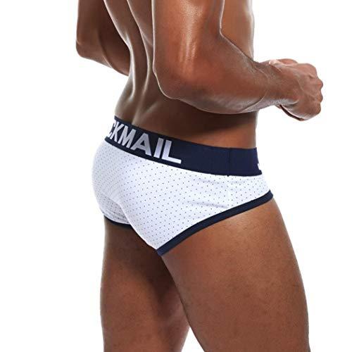 Blanc Coton Imprimé Caleçon Culotte Briefs Dot En Boxer Slip Homme Hipster Respirant Aimee7 4P7qY7w