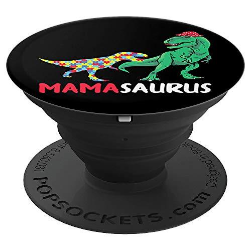 (Mamasaurus Mama Dinosaur Autism Awareness Puzzle Jigsaw Grip - PopSockets Grip and Stand for Phones and)