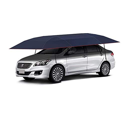 - ZJY Car Tent, Umbrella, Movable Carport, Awning, Waterproof Sunscreen Hydraulic Boost Anti-Theft Design Semi-Automatic Without Standing for All Types of Cars