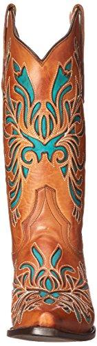 Stetson Women's Amber Western Boot Burnished Sorrel PypbjgU12