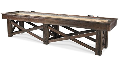 12' McCormick Shuffleboard Table-Rustic Shuffleboard Table by Plank and Hide by Plank and Hide