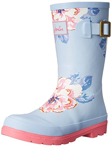 Big Little Joules Floral JNR Kid Rain Blue Sky Toddler Girls Boot Welly Kid TY8fqT