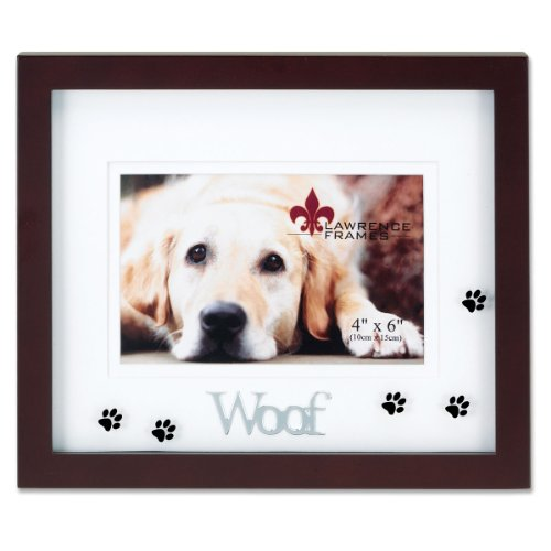 Lawrence Frames Walnut Wood 4 by 6 Woof Picture Frame, Ma...