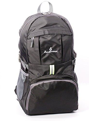 king Daypack Lightweight Waterproof Travel Backpack | Nylon Reflector 35L| Black Hiking Backpack (Medium Alley Shoulder Bag)