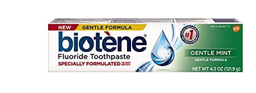 Biotene Fluoride Toothpaste Antibacterial Gentle Mint, 4.3 Ounces each, Pack of 2 -