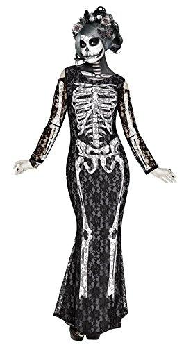 Lacy Bones Adult Costume - Medium (Muertos Dia Bride Los De)