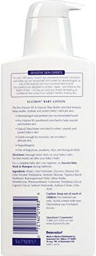 41OXGMgzghL. AC - Eucerin Baby Body Lotion - Hypoallergenic & Fragrance Free, Safe For Everyday Use On Sensitive Skin - 13.5 Fl. Oz. Pump Bottle