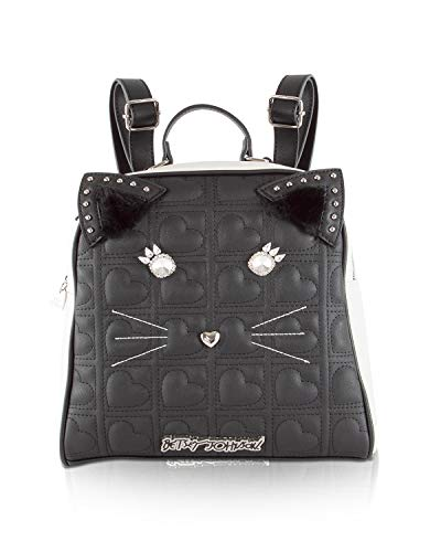 Betsey Johnson Kitch Cat Medium School Backpack Tote Bag - ()