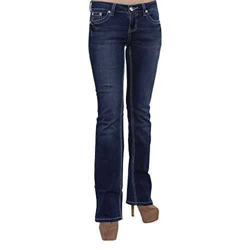 Embroidery Bootcut Womens Jeans - 4