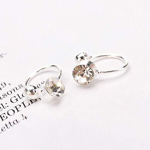 1Pair Fashion Clear CZ Rhinestone U Clip ON Ear Cuff Earrings Stud No Pierce Necklace Jewelry Crafting Key Chain Bracelet Pendants Accessories Best
