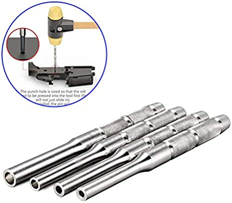 4pcs//Set Stainless Steel Multi Size Hollow End Roll Pin Tool Starter Punch Kits