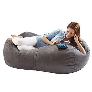 Jaxx Bean Bags Sofa Saxx Lounger, 4-Feet, Charcoal Microsuede