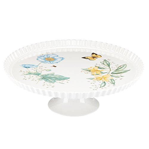 Lenox Butterfly Meadow Melamine Footed Server, White