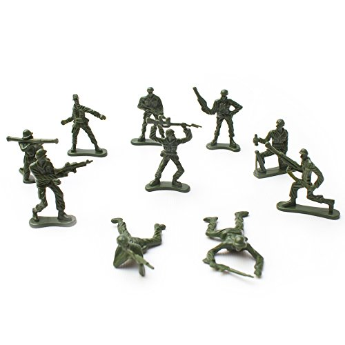 (Fun Central AU196, 144 Pcs Various Pose Toy Soldiers Figures, Army Men Green Toy Soldiers, Toy Soldiers Action Figures for Kids)