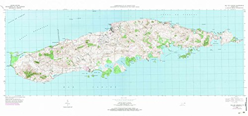 Historical Map Reproductions (Puerto Rico Maps | 1951 Islae Vieques, PR USGS Historical Topographic Map |Fine Art Cartography Reproduction Print)