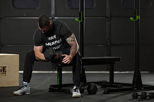 Rage Fitness Rubber Hex Dumbbell