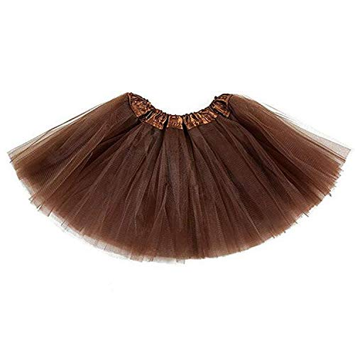 belababy Baby Tutu Skirt, Infant Tutus, 5 Layers Tulle Dress Up for Baby Girls &Toddlers Coffee (Brown Skirt Kids)
