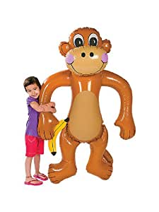 Jumbo Inflatable Monkey -Over 5 Feet Tall! by Fun Express