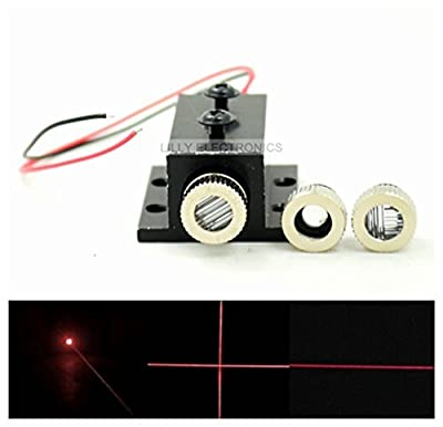 Adjusted Red Diode Lasers 650nm 150mw Dot/Line/Cross LED Module w/Heatsink & Driver In