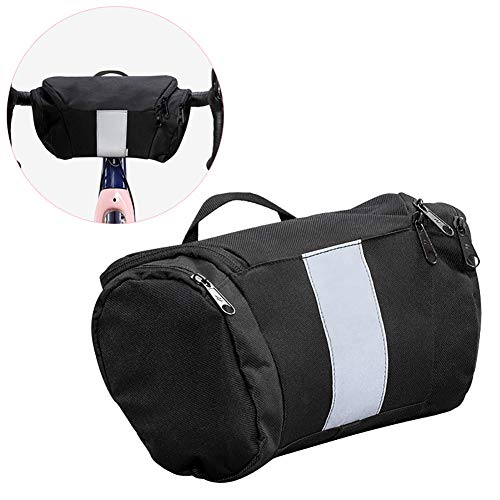 Shentesel Bike Handlebar Bag Cycling Bicycle Portable Large Capacity Waterproof Reflective – Black