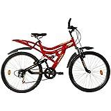 Hercules MTB Turbodrive Dynamite 6 Speed Bicycle (Red)