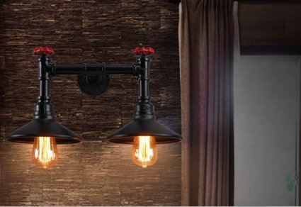 WYMBS Retro Eisen Wandleuchten loft Gang cafes, restaurants Halle