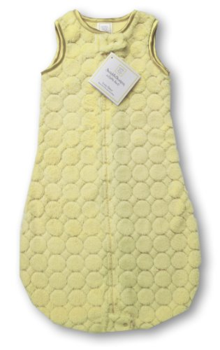 SwaddleDesigns Sleeping Zipper Yellow Circles