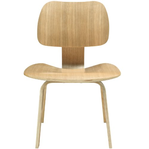 Modway Fathom Mid-Century Modern Molded Plywood Dining Chair in Natural