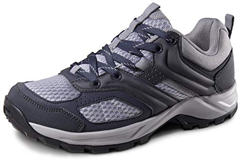 Camel Hiking Shoes Womens Low Top Sneakers Lightweight Athletic Trekking Shoe Mesh Breathable Walking Shoes Slip-On Trail Running Footwear Outdoor Sports(Black, 8.5 M US)