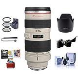 Canon EF 70-200mm f/2.8L USM AF Lens Kit, USA - with 77mm Filter Kit, Flex Lens Shade, Lens Cap Leash, Lens Cleaning Kit, Lens Hood ET-83 II, Mac Software Package