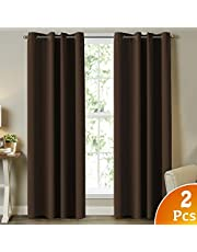 Thermal Insulated Blackout Curtains,2 Panels,Eyelet