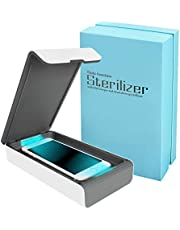 Portable UV Cell Phone Sanitizer with USB Charger – Multi-Use UV Light Disinfection for Smartphone iPhone 6 6s 7s Plus Toothbrush Watches Jewelry – Aromatherapy Hub UV Sterilizer Cleaner Case (White)