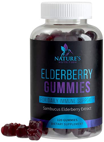 Elderberry Gummies for Natural Immune Support - Extra Strength Black Elderberry Extract is 35x More Potent - Great Tasting Raspberry Gummy - Natural Sambucus for Kids & Adults