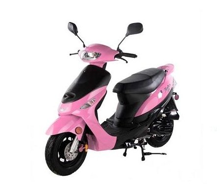 50cc Gas Street Legal Scooter TaoTao ATM50-A1 - Pink