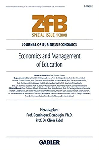 Download Economics and Management of Education (ZfB Special Issue) PDF, azw (Kindle), ePub, doc, mobi
