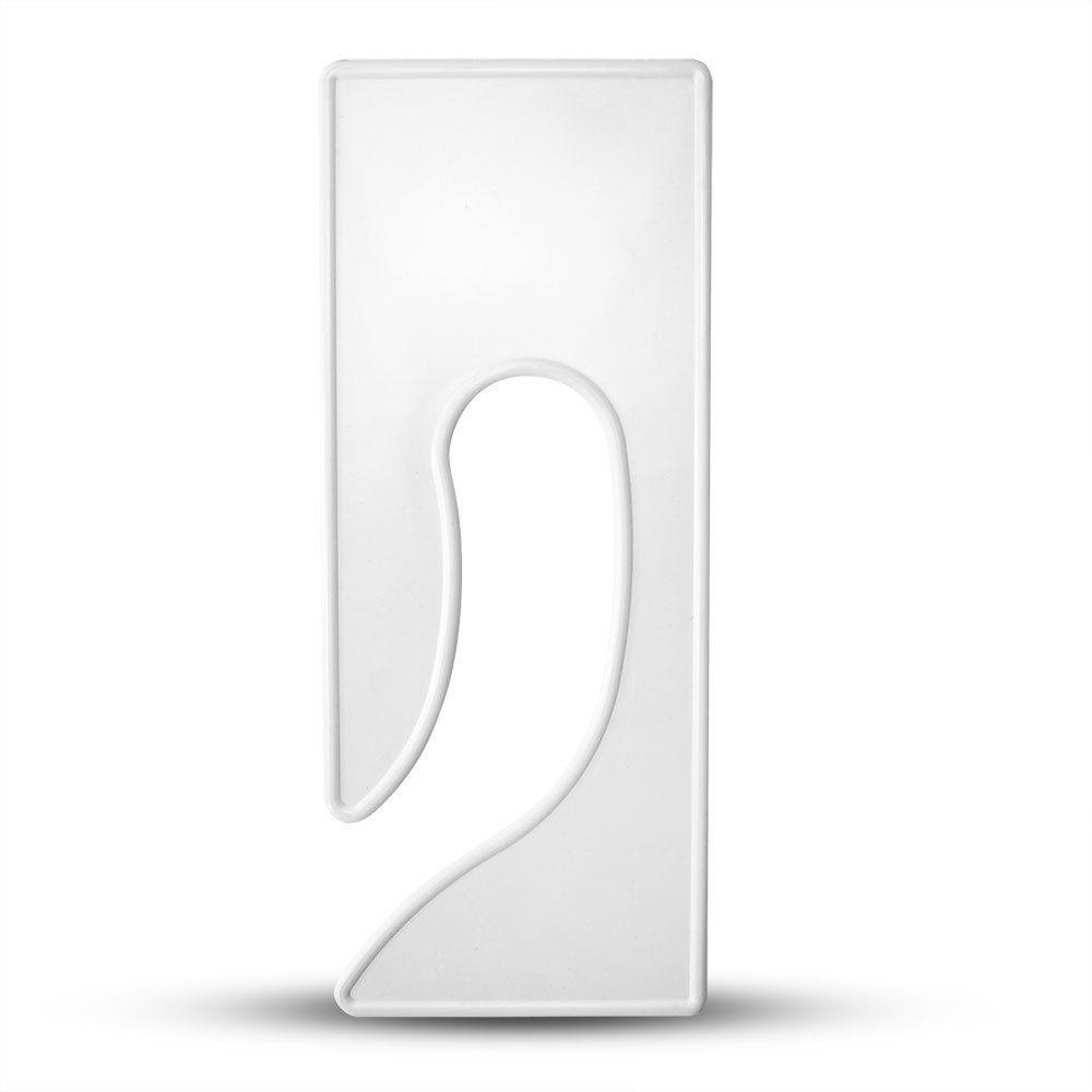 Discount Sizing Blank King Rectangle Dividers (Various Colors and Quantities) (100, White)