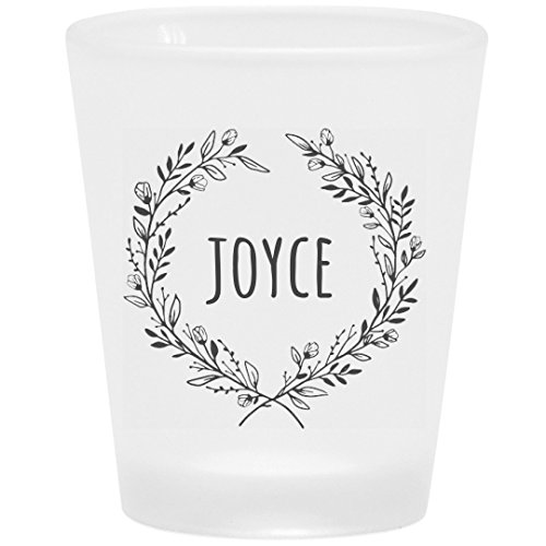 Joyce Floral Drinking Gift: Frosted Shot Glass -