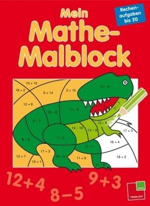 Mein Mathe-Malblock Rechenaufgaben bis 20: 24 Bilder zum Ausmalen, heraustrennbare Seiten (Grundschule)