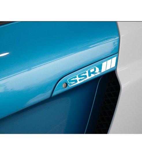4 x increíble Kingzer SSR coche pomo toreinforced pegatinas etiqueta blanco reflectante: Amazon.es: Electrónica