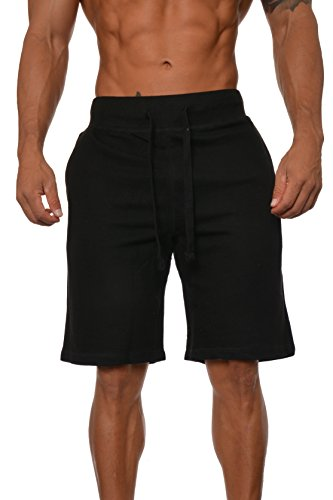 YoungLA Mens Workout Shorts Fleece Gym Training Athletic w/ Flexible Waistband and Drawcords – DiZiSports Store