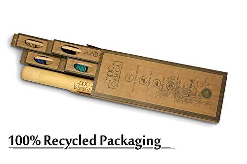 Amazon.com: Orgánico bambú natural cepillos de dientes + 1 ...