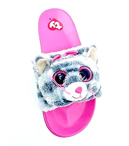 - Ty Beanie Boo Girls Sandals Slides Kiki Kitty Cat Size 4-5