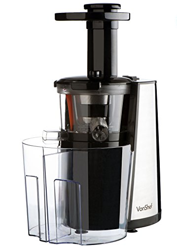 Vonshef Slow Juicer Horizontal : vonShef 150W Slow Masticating Single Auger Juicer Extractor - Yields more Juice & is Easy Clean ...